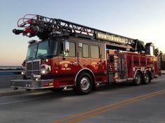 Huntersville Fire Department NC  SMEAL Heavy Duty Rear Mount Aerial 2013 #300gallons #pumper #ladder http://setcomcorp.com/900eintercom.html