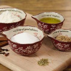 temp-tations® Floral Lace Sentiment Measuring Cups :: temp-tations® by Tara