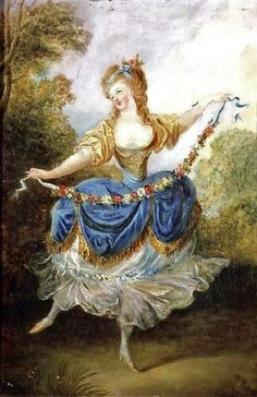 an-Frederic Schall (French painter, 1752-1825) Dancer with a Garland 1780s