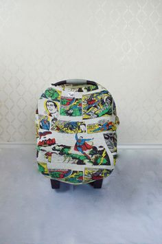 Superman Comic Car Seat/Nursing Cover by MommaFreckle on Etsy