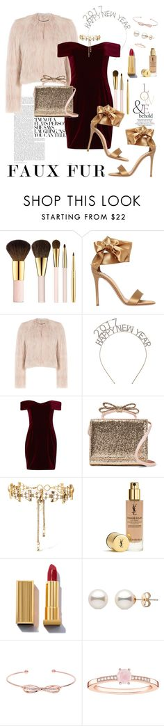 """""""New Year Eve : Faux Fur"""" by stylechristine ❤ liked on Polyvore featuring AERIN, ASOS, Gianvito Rossi, RED Valentino, Nicholas, Erickson Beamon, Ted Baker and Thomas Sabo"""