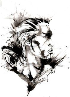 yu-ki nishimoto Mask Tattoo, Samurai Art, Ink Illustrations, Chinese Painting, Japan Fashion, Ink Painting, Ink Art, Japanese Art, Tattoo Inspiration