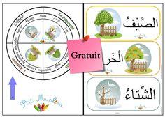 Les 4 Saisons Arabe et Français Suggestion d'utilisation : Imprimer, plastifier…