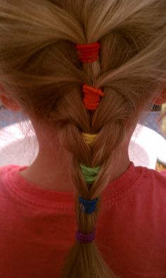 I used to fix my girls hair like this when they were little! I loved it and soooo easy