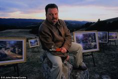RIP Thomas Kinkade, the  'painter of light'  has died aged 54. One of my favourite artists so very sad.  www.dailymail.co....