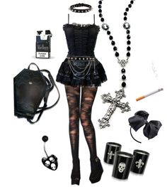 """Gothic Fashion for contest"" by kikicobain ❤ liked on Polyvore"