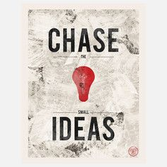 Chase The Small Ideas Canvas, $56, now featured on Fab.