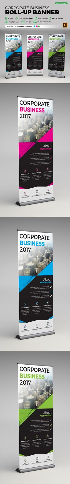 Corporate Roll Up Banner @creativework247