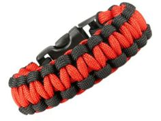 """Paracord Survival Bracelet - Red & Black - 8.5""""- Para29 Luos Cultural Goods. $4.96. Perfect for anyone interested in the outdoors!. Always be able to carry several feet of Military Spec Type III 550 paracord on your wrist. Use for building shelter, snares, fishing, fist-aid, broken shoe laces and gear, and an unlimited number of other uses!. Black slide release clip is contoured to fit your wrist comfortably. 550 Paracord is highly durable, extremely strong, and can be used for..."""