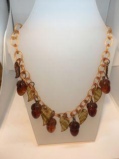 Acorn Necklace, Chain, Jewelry, Jewlery, Jewerly, Necklaces, Schmuck, Jewels, Jewelery
