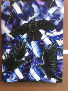 Pretty crow painting