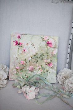 Grange de Charme Simple Acrylic Paintings, Paintings I Love, Beautiful Paintings, Art Floral, Scrapbook Canvas, Laurence Amelie, Bel Art, Impressions Botaniques, Abstract Nature