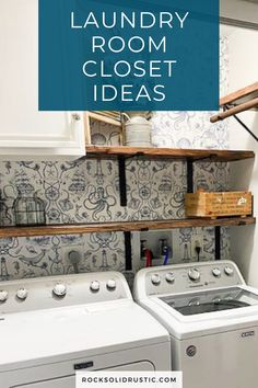 A laundry room closet shouldn't be overlooked because it is a tight space. The nice thing about a small laundry room is that it can be made over in a weekend or less. Asides from knocking out this DIY quickly and on a budget, you can do a bold design in this space. #laundryroom #laundryroomcloset Room Closet, Laundry Room, Laundry Rooms, Cupboard Storage, Vanity Cabinet, Laundry