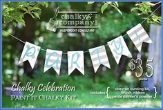 Brand new #chalkyandcompany #paintitchalkykit! Love this wood banner kit! Available only through a consultant (like me!) and to paint during a class! Contact me for more information www.SomethingToChalkyAbout.com