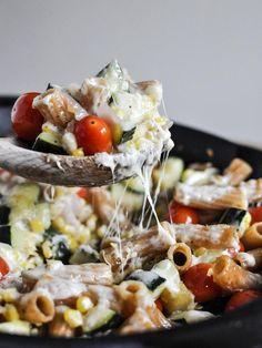 Pâtes aux légumes au beurre brun