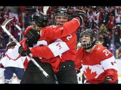 OH CANADA! USA vs Canada Women's Hockey Sochi Olympics Canada wins 3 2 Gold Medal