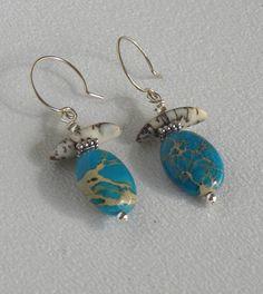 Turquoise Variscite Handmade Beaded by bdzzledbeadedjewelry, $10.00