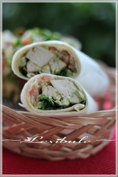 les milles & un délices de ~lexibule~: ~Wrap au poulet grillé et au pesto de basilic~