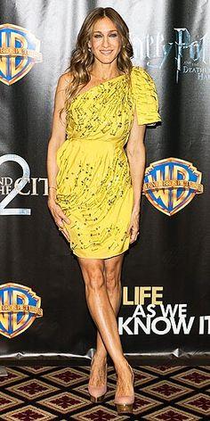 She looks stunning in yellow!