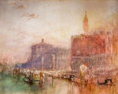 Joseph Mallord William Turner - The Doge's Palace and Piazzetta Venice, 1840 at National Gallery of Ireland Dublin