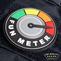 FUN METER - PVC VELCRO MORALE PATCH BY PATCHLEX