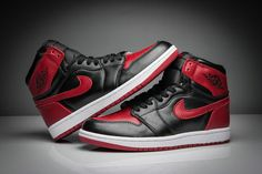 1a170776a4e242 Air Jordan 1 One Banned Varsity Red White Black 555088 001 men shoes casual  sneakers Shoe