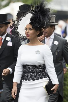 Princess Haya, June 19, 2014 in Philip Treacy | Royal Hats....Ascot Day 3: Ladies' Day.....Posted on June 19, 2014 by HatQueen
