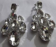 Czechoslovakia Crystal Chandelier Clip-on Earrings | Costume ...