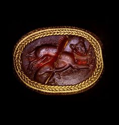 Roman Brooch -  Carnelian and Gold, before 300 A.D.