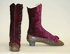 Ladies' Boots  --  1867  --  Likely American  --  Metropolitan Museum of Art Costume Institute