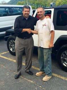 Steve Parsons with Levi Barker. Thanks Again for your business Levi 😃👍