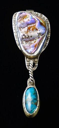 Zuni Indian Sterling Silver Owl Pendant Booqua