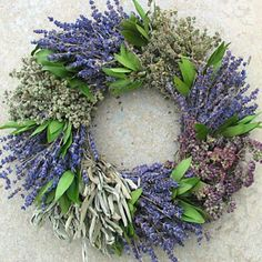 Perfect for the Mom who dreams of Provence:) our provence lavender and kitchen herb wreath. www.shoplacampagna.com