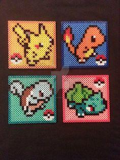Pokemon Perler Bead Coaster by AshMoonDesigns
