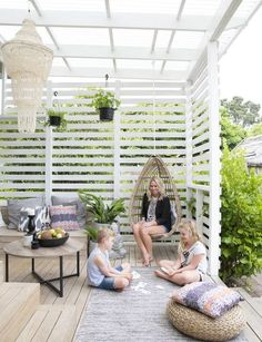 The pergola kits are the easiest and quickest way to build a garden pergola. There are lots of do it yourself pergola kits available to you so that anyone could easily put them together to construct a new structure at their backyard. Backyard Patio Designs, Backyard Pergola, Pergola Kits, Backyard Landscaping, Pergola Designs, Pergola Roof, Landscaping Ideas, Backyard Ideas, Backyard Beach