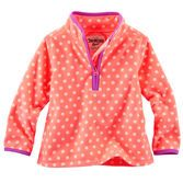 A perfect layer for sledding, she'll love the polka dots and colorful contrast details on this microfleece pullover.