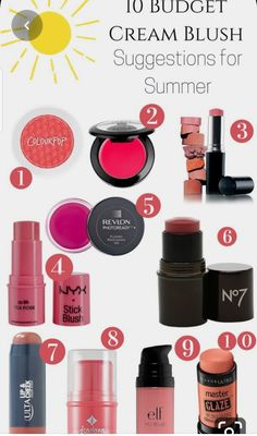 Tis the season for cream blushes and I created a list of 10 Budget Cream Blush Suggestions for Summer that will give your cheeks the perfect flush of light.good for winter months Blush Makeup, Love Makeup, Skin Makeup, Beauty Makeup, Beauty Dupes, 80s Makeup, Witch Makeup, Costume Makeup, Simple Makeup