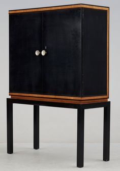 Otto Schultz; Stained Birch and Mahogany Cabinet for Boet, 1930s.