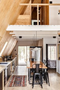 Take a Retreat to This Scandinavian Modern A-Frame Cabin In The Middle of the Woods - Design Milk