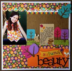 Friendly Forest: Autumn Beauty Layout by Jodi Wilton from Doodlebug Design using their new Friendly Forest collection