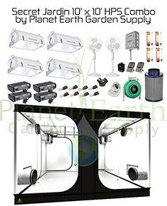 Secret Jardin Grow Tent x HPS Complete Hydroponic Combo Package Gift! Grow Room Design, Grow Cabinet, Grow Tent, Room Setup, Garden Supplies, Medical Marijuana, Hydroponics, Horticulture, Tents