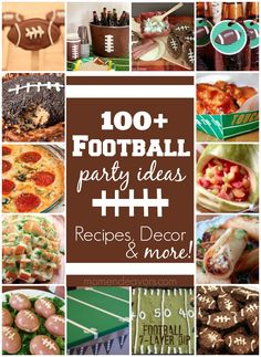 100+ Football party ideas, complete with recipes, crafts, decor, and more via momendeavors.com! #football