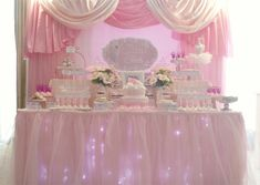 A Dreamy Pink Ballerina Themed Dessert Table