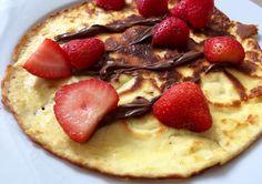 Mascarpone pannenkoek Pancakes, Low Carb, Pie, Lunch, Sugar, Breakfast, Healthy, Sport, Desserts