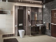 Modern bathroom / Rendering / Software: 3ds max, PS