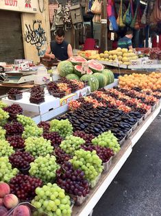 HaCarmel Market, Tel Aviv, Israel. The Carmel Market is Tel Aviv's main food and vegetable market, visit this charming place which is the heart of Tel Aviv's culinary culture.Good for when I live there