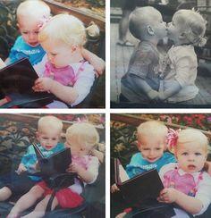 Little kids kissing :*