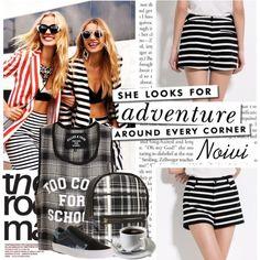Slim Waisting Striped Cotton Shorts
