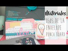 Tutorial: diferentes usos de la Envelope Punch Board de We are memory keepers - YouTube Envelope Punch Board, We R Memory Keepers, Scrapbooks, Decoupage, Crafts For Kids, Mixed Media, Paper Crafts, Memories, Album