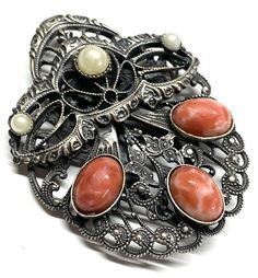 Antiques For Sale, Mixed Metals, Clip, Vintage Jewelry, Pearls, Unique, Beautiful, Beads, Vintage Jewellery